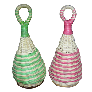 GO SHAK5 Caxixi rattan cone shaped p.pc.