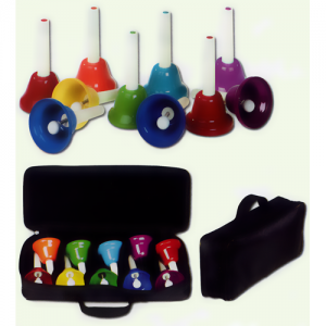 GO THB/SET10B Table bell set 10 pcs. incl. bag C2-C3 w/extra Fis/Bes with handle