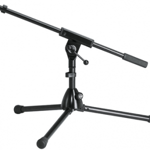 K&M 25910-300-55 Microphone stand extra low. Black