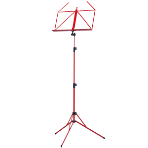 K&M 100/5 Music stand. Red
