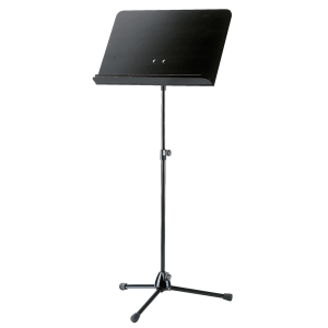 K&M 118/1 (11812) Orchestra music stand. Black with black wooden desk