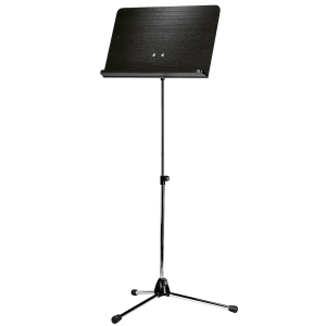K&M 118/1 (11812) Orchestra music stand. Nickel with black wooden desk