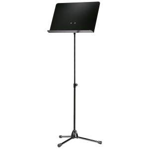K&M 118/1 (11818) Orchestra music stand. Black with black aluminium desk