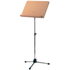 K&M 118/1 (11819) Orchestra music stand. Nickel with Beech wooden desk