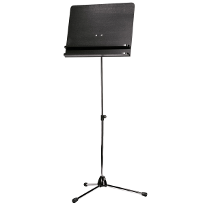 K&M 118/3 (11832) Orchestra music stand. Nickel with black wooden desk