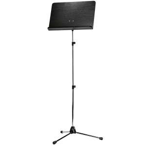 K&M 118/4 (11842) Orchestra music stand. Nickel with black wooden desk
