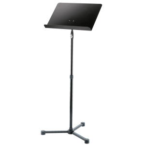 K&M 11950 Orchestra music stand. Black. One-hand system