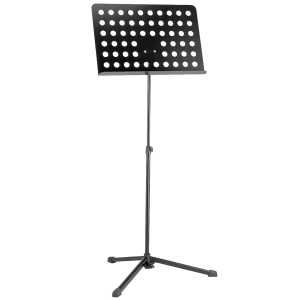 K&M 12179 Orchestra music stand. Black. perforated desk