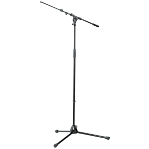 K&M 21090-300-55 compact Microphone stand. boom-arm. black