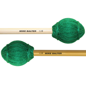 Mike Balter BA-12R Ensemble Series Marimba mallet. Medium-Hard. Rattan stok. groen