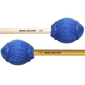 Mike Balter BA-13R Ensemble Series Marimba mallet. Medium. Rattan stok. blauw