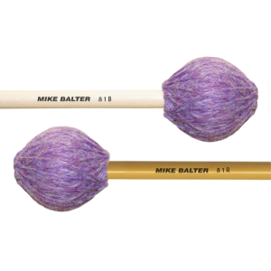 Mike Balter BA-81B Contemporary Series Marimba mallet. Hard. Berken stok. paars