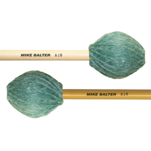 Mike Balter BA-82B Contemporary Series Marimba mallet. Medium-Hard. Berken stok. groen