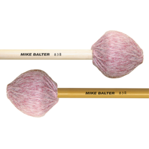 Mike Balter BA-83B Contemporary Series Marimba mallet. Medium. Berken stok. roze