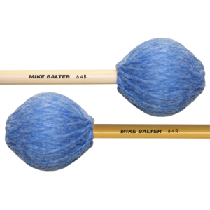 Mike Balter BA-84B Contemporary Series Marimba mallet. Medium-Soft. Berken stok. blauw