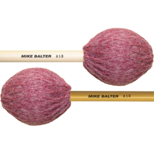 Mike Balter BA-85B Contemporary Series Marimba mallet. Medium-Soft. Berken stok. wijnrood