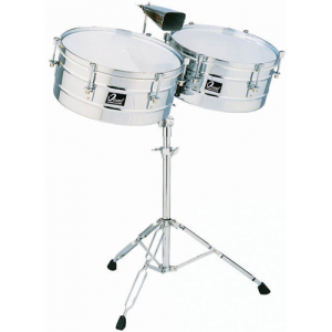 OSAN LT-4045 Timbale set metal 14/15 incl.stand latin type
