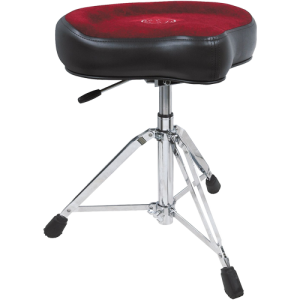 ROC-N-SOC RS-NRO-R Retro drum seat complete. red. w/nitrogas lift stool saddle seat
