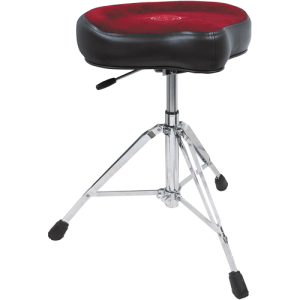 ROC-N-SOC RS-NROX-R Retro drum seat complete. red. w/nitrogas lift stool x-tra height