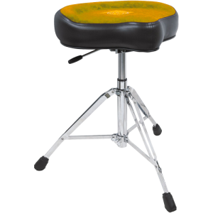 ROC-N-SOC RS-NROX-T Retro drum seat complete. tan. w/nitrogas lift stool x-tra height