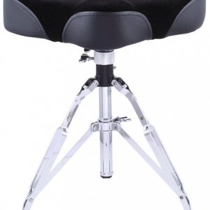 STABLE DT902D Drum throne w/spindle cloth covering saddle seat