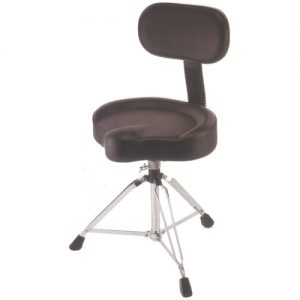 STABLE DT903 Drum throne w/spindle vinyl covering saddle seat with back rest