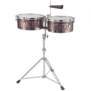 STABLE TB1 Timbale set copper/brass 14/15 incl. stand hand hammered