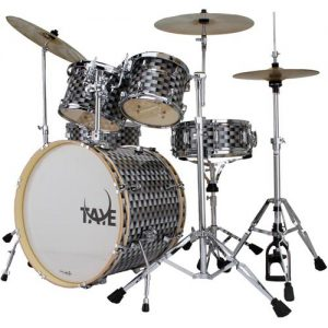 TAYE RP522C/BNW RockPro drum kit. Black&White
