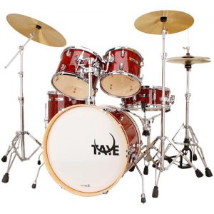 TAYE SL520J/GR Spotlight drum kit. Graphic Red. incl. hardware set